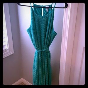 Elle Teal textured dress